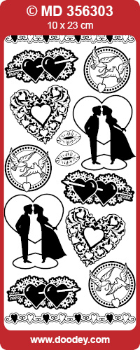 MD356303 Love Silhouets