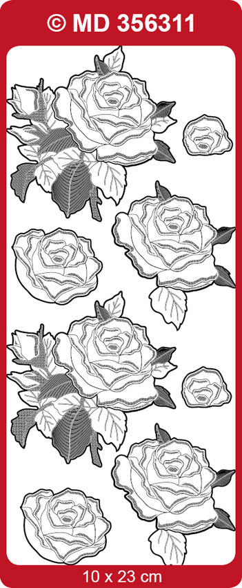 MD356311 3D Sticker, Roses