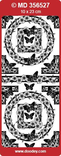 MD356527 Frame blossom/ butterfly