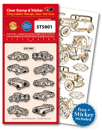ST5901 Clear Stamps Old-Timers/ Cars