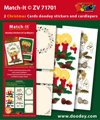 ZV71701 Set Match-It 3D stickers and cardlayers christmas