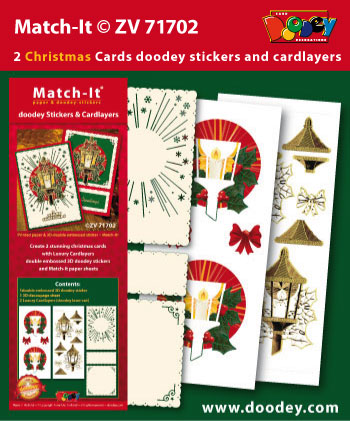 ZV71702 Set Match-It 3D stickers and cardlayers christmas