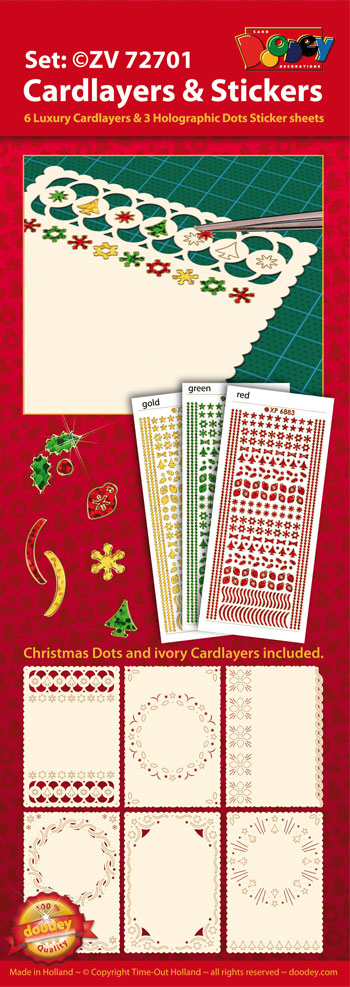 ZV72701 Set Christmas cardlayers and Holographic Sticker dots