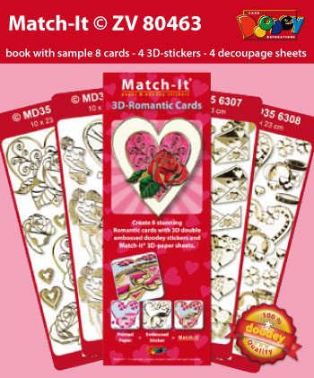 ZV80463 Set Booklet and Stickers Match-It 3D Romance