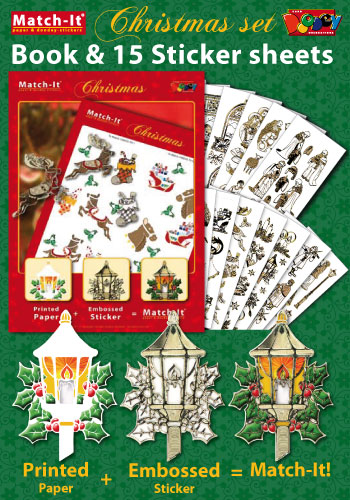 ZV91571 Set Booklet and Stickers Match-It Christmas