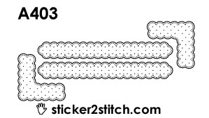 A403 embroidery sticker border corner