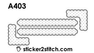A403 borduursticker randjes en hoekjes