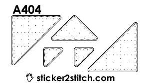 A404 borduursticker hoekjes piramide