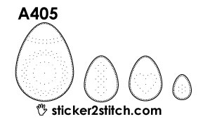 A405 embroidery sticker easter egg
