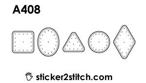A408 embroidery sticker geometric small