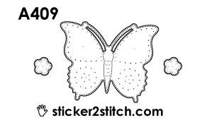 A409 borduursticker vlinder