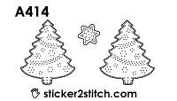 A414 borduursticker kerstboom