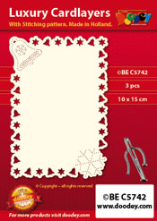 BEC5742 Luxury card layer stitch A6 layer bell snowflake