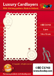BEC5743 Luxury card layer stitch A6 layer Christmas Ornaments