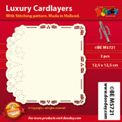 BEM5721 Luxury card layer stitch 12,5 x 12,5 cm holy