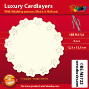 BEM5722 Luxury card layer stitch 12,5 x 12,5 cm circle/star