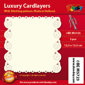 BEM5723 Luxury card layer stitch 12,5 x 12,5 cm baubles