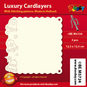 BEM5724 Luxury card layer stitch 12,5 x 12,5 cm bells