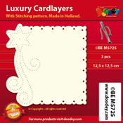 BEM5725 Luxury card layer stitch 12,5 x 12,5 cm star