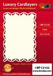 BPC5102 Luxe oplegkaart A6 flesjes