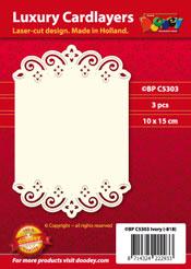 BPC5303 Luxe oplegkaart A6 floraal met golven