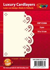 BPC5306 Luxe oplegkaart A6 floraal met golven