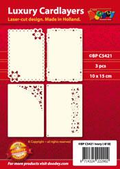 BPC5421 Luxe oplegkaart 4x3 Floral Mini Mix
