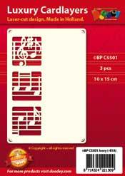 BPC5501 Luxe oplegkaart A6 muziek notenbalk