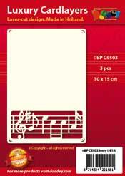 BPC5503 Luxe oplegkaart A6 muziek notenbalk