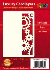 BPC5522 Luxury card layer A6 gears and cogwheels