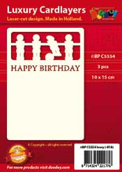 BPC5554 Luxury card layer A6 table soccer happy birthday