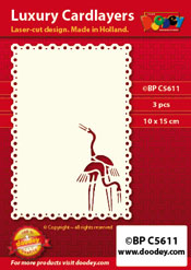 BPC5611 Luxury card layer A6 oriental cranes