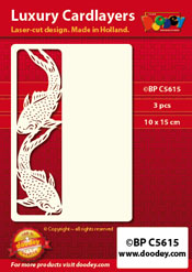 BPC5615 Luxury card layer A6 oriental gold carper