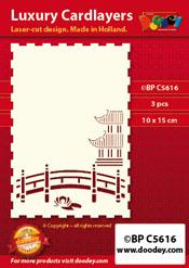 BPC5616 Luxe oplegkaart A6 orientaalse tuin brug