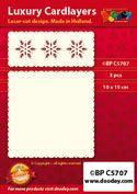 BPC5707 Luxe oplegkaart A6 3 sneeuwkristallen