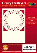 BPC5712 Luxe oplegkaart A6 kerstkrans