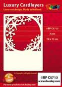 BPC5713 Luxe oplegkaart A6 ijskristal raam