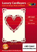 BPC5807 Luxury card layer A6 heart with corners