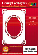 BPC5808 Luxe oplegkaart A6 ovaal met hoekjes