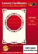 BPC5809 Luxe oplegkaart A6 circel met hoekjes