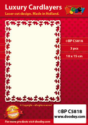 BPC5818 Luxe oplegkaart A6 puzzelstukjes randje