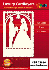BPC5826 Luxury card layer A6 wedding silhouette