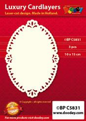 BPC5831 Luxe oplegkaart A6 ovale blaadjes