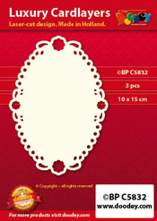 BPC5832 Luxe oplegkaart A6 ovaal lily