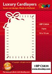 BPC5834 Luxe oplegkaart A6 rijgen strik