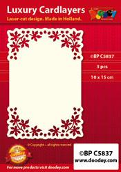BPC5837 Luxe oplegkaart A6 blaadjes