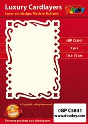 BPC5841 Luxe oplegkaart A6 summer dream
