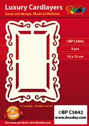 BPC5842 Luxe oplegkaart A6 vensterdroom