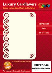 BPC5844 Luxe oplegkaart A6 salamander voetafdruk