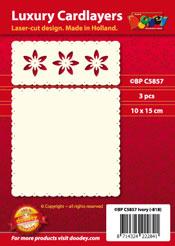 BPC5857 Luxe oplegkaart A6 tweeluik floraal